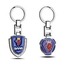 3D metal Car Key Holder Key Rings Key Chain for saab scania emblem 93 9-3 900 9000 Keychain Keyring Gift Auto Accessories