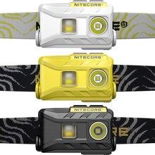 Nitecore original nu25 360 lumens três saída leve farol lanterna para corrida ao ar livre, usb recarregável