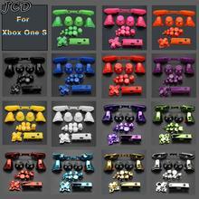 JCD Set completo di pulsanti in plastica e cromatura Dpad RT LT RB LB guida ABXY pulsanti ON OFF per la riparazione del Gamepad del Controller Xbox One S