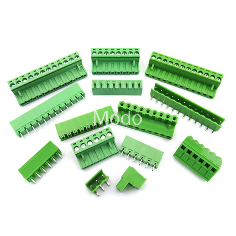 10 Sets/lot HT5.08 2 3 4 5pin Terminal Plug Type 300V 10A KF2EDGK 5.08mm Pitch PCB Connector Screw Terminal Block Free Shipping