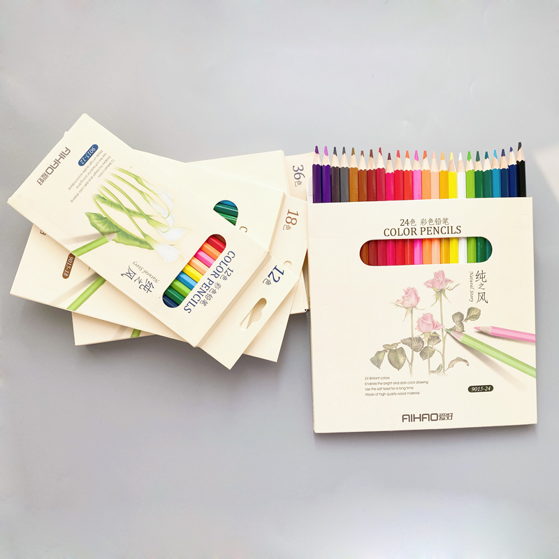 12 18 24 36 pcs/lot Candy Colors Pencil Drawing Painting Boxed Diy HB Color Pencil Stationery Items School Office Stationery