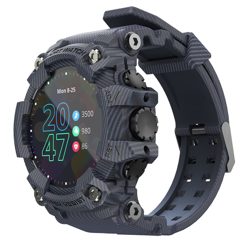 LOKMAT ATTACK Full Touch Screen Fitness Tracker Smart Watch Men Heart Rate Monitor Blood Pressure Smartwatch