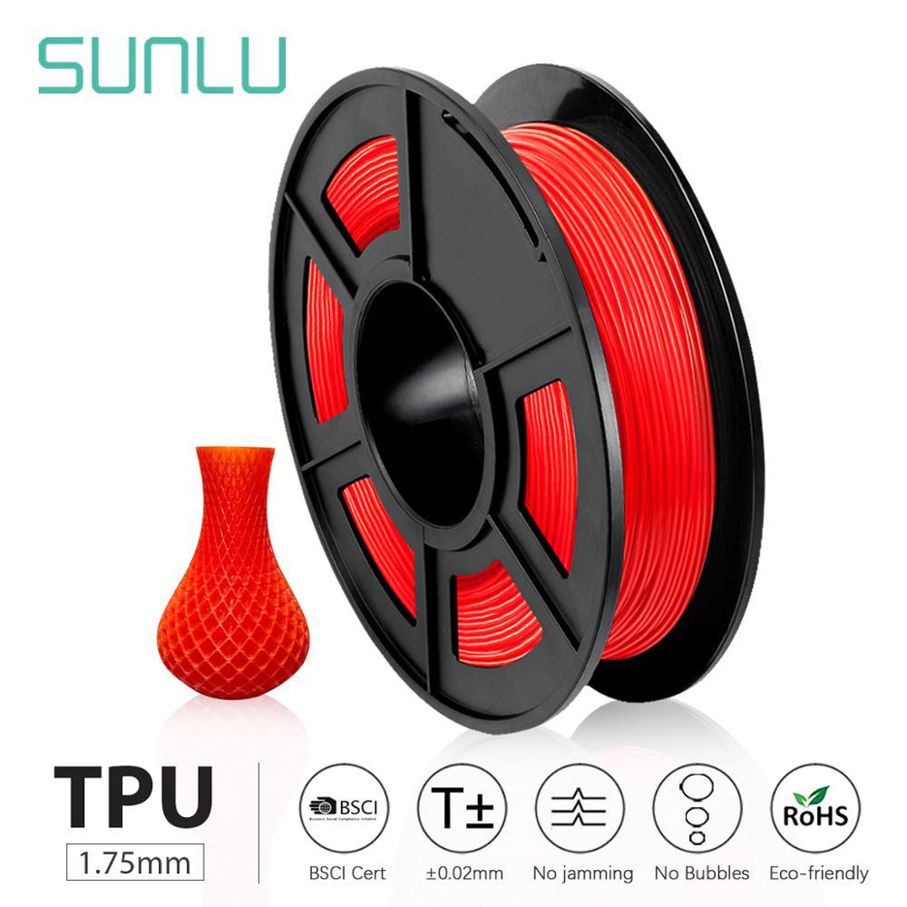 SUNLU 1,75 мм термополиуретановая нить Гибкая 0,5 кг мягкая нить для 3d-печати Гибкая нить 1,75 мм для моделирования 3D-принтера