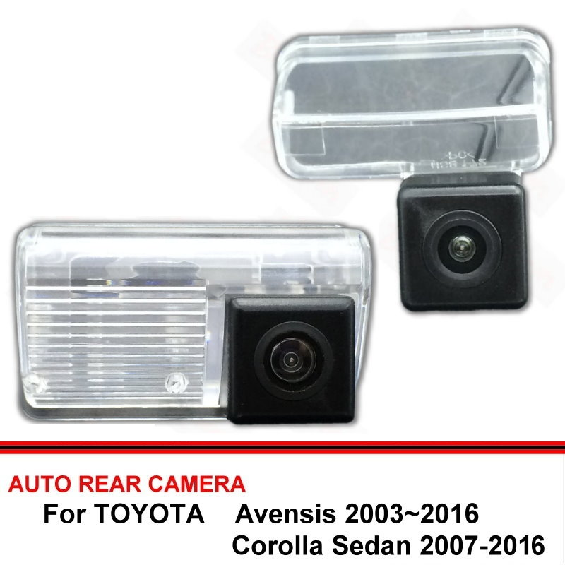 For TOYOTA Avensis Corolla Sedan 2003~2016 Night Vision Rear View Camera Reversing Camera Car Back Up Camera HD CCD Wide Angle