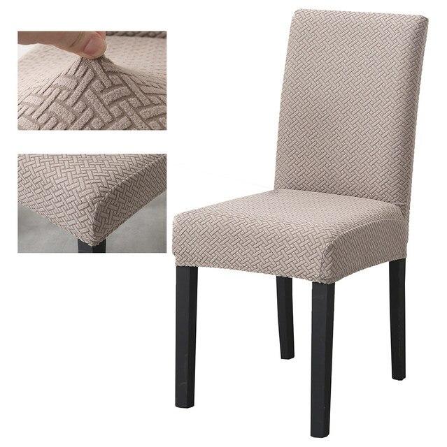 סופר רך קוטב צמר בד כיסוי כיסא אלסטי כיסא מכסה ספנדקס לחדר אוכל/חתונה/מטבח/מלון מסיבת משתה
