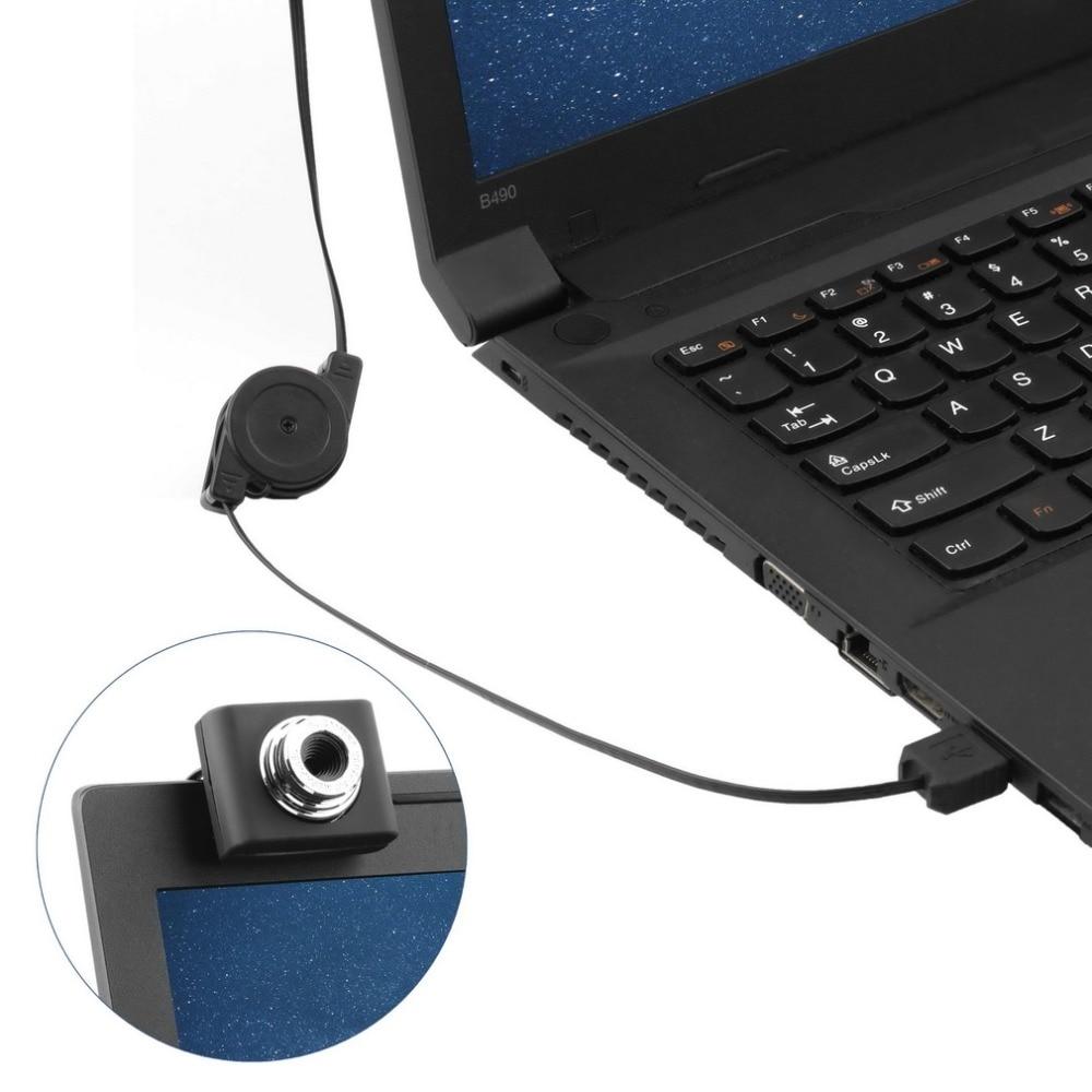 High Quality 1pc Mini USB 5M Retractable Clip WebCam Web Camera Laptop 100% Wholesale Drop Shipping