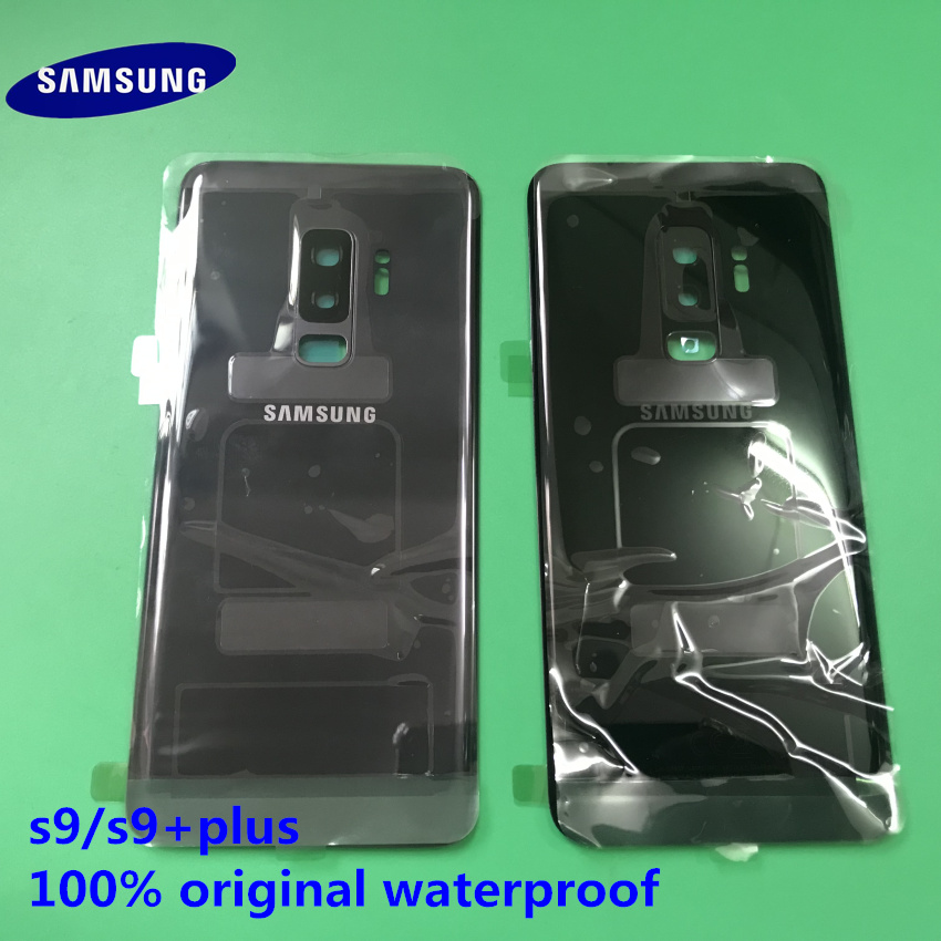 Original New Samsung Galaxy S9 Plus S9+ Back Cover Rear Door Housing Cover Glass Back Battery Cover Replacement For Samsung S9