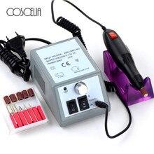 Профессиональная электрическая дрель для ногтей, машинка для маникюра с сверлами, 6 бит, оборудование для педикюра, маникюра, дизайна ногтей, Электронная пилка для ногтей