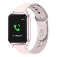 B58 Смарт-часы для мужчин и женщин, смарт-браслет, мониторинг сердечного ритма, B57 Plus, женские Смарт-часы, фитнес-трекер, браслет для iPhone