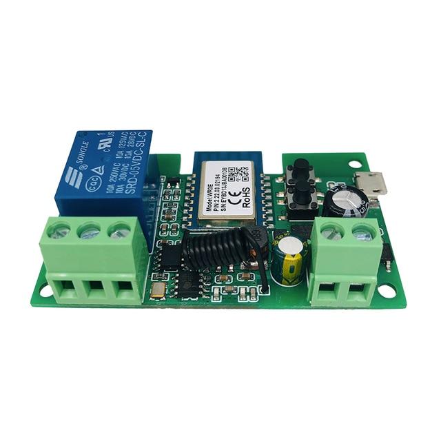 Smart Module USB 7-32V DIY 1 Channel Jog Inching Self-locking WIFI Wireless Smart Home Switch Remote Control with Amazon Alexa 6
