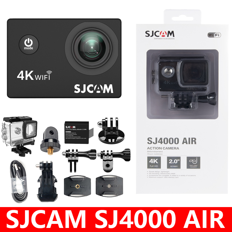 "Original SJCAM SJ4000 AIR Action Camera Full HD Allwinner 4K 30FPS WIFI 2.0"" Screen Mini Helmet Waterproof Sports DV Camera-0"