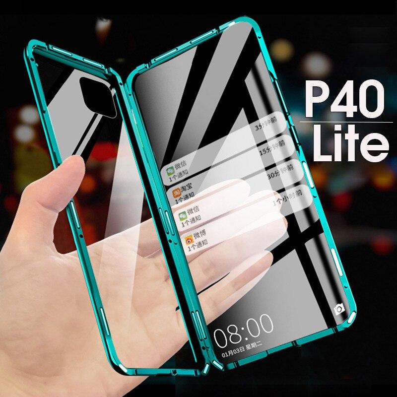 Чехол для Huawei P40 Lite P 40 Lite Light P40Lite, магнитный металлический корпус 360 для Huawei Nova 7i 6 SE, двухсторонний чехол из закаленного стекла|Специальные чехлы|   | АлиЭкспресс