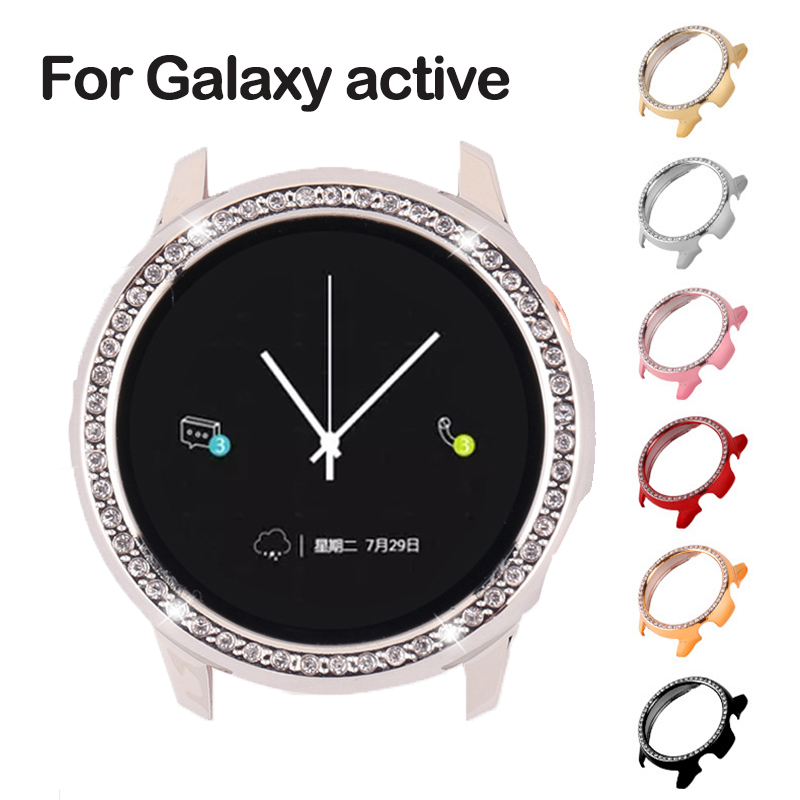 Galaxy Watch Active Case For Samsung Galaxy Watch Active  Bumper Protector HD Full Coverage Screen Protection Case