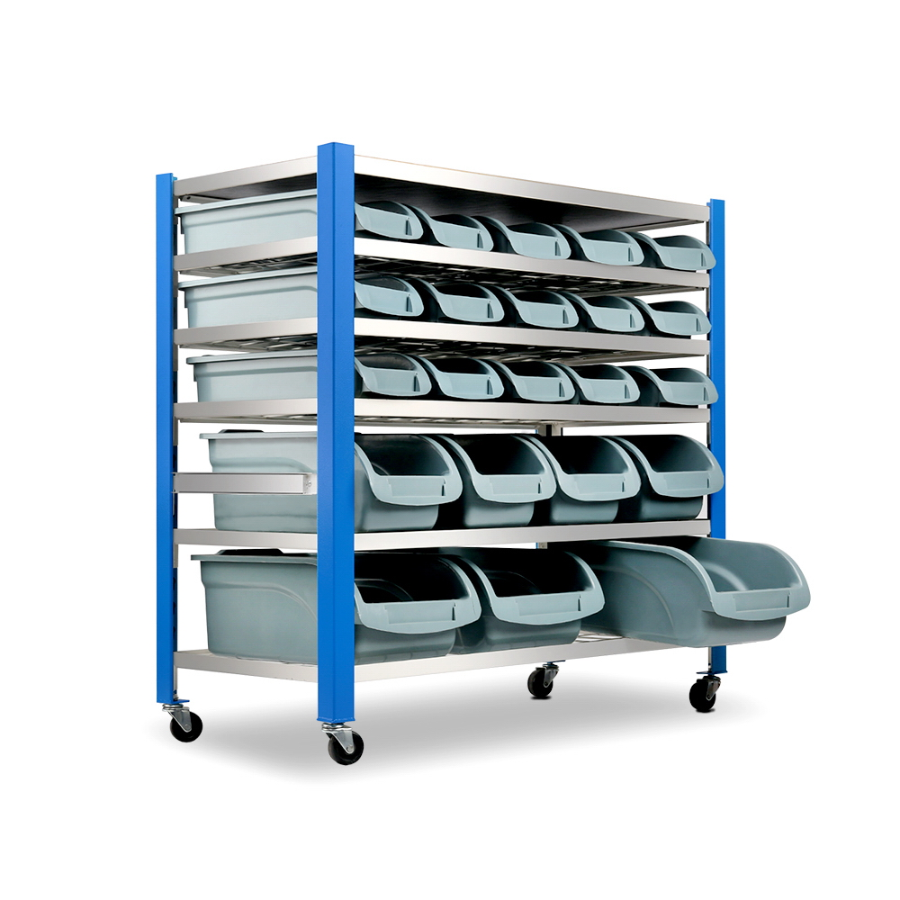 Giantz 22 Storage Bin Rack Stand 5 Tier Rack Construction With Bin Locating Guides Sturdy Rust-Resistant Frame