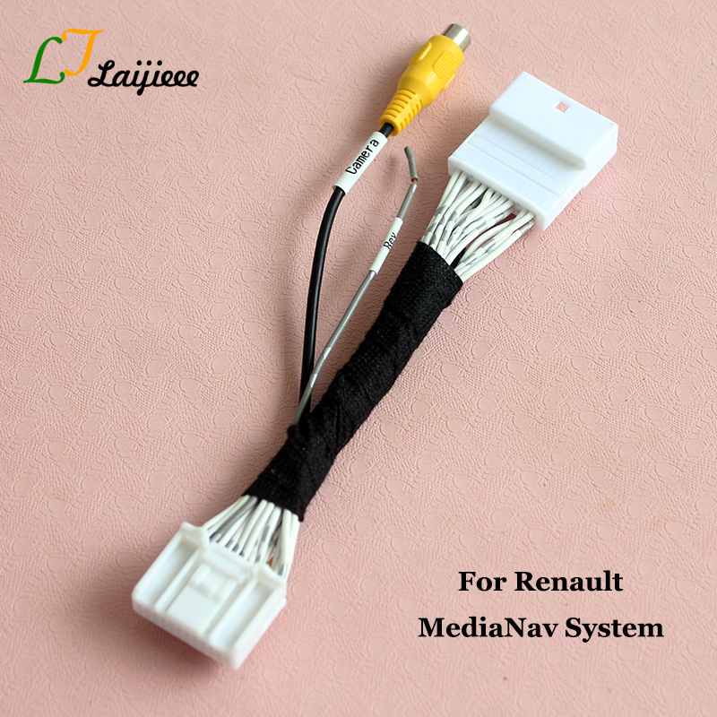 24 Pin Reverse Camera Interface For Renault Dacia OEM Monitor With MediaNav System / Nondestructive Install The Rearview Camera