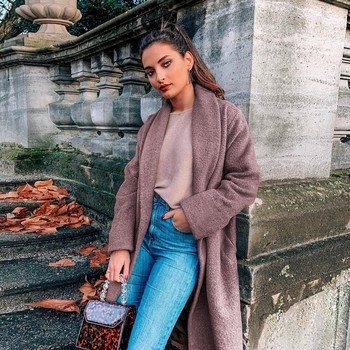 SAGACE New Arrivals Women's Fashion Long Sleeve Jackets Solid Color Casual Loose Coat Tops solid color Street Fashion coat hot
