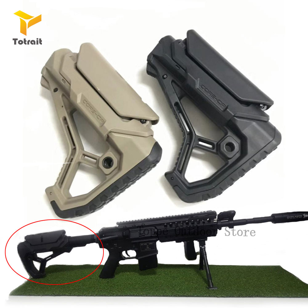 TOtrait Tactical Nylon Adjustable Extended Stock For Air Guns CS Sport Paintball Airsoft BD556 Gel Blaster Receiver Gearbox