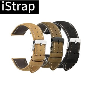 Genuine Leather Watchbands 18mm 19mm 20mm 21mm 22mm 24mm Black Dark Brown Women for Citizen for Omega(China)