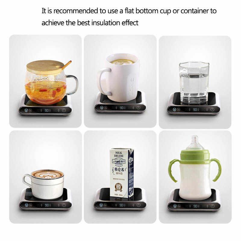 5V podgrzewacz kubka inteligentne termostatyczne ekspresy do gorącej herbaty 3 biegi USB ładowanie ogrzewanie Coaster pulpit podgrzewacz do kawy herbata mleczna podkładka ocieplająca