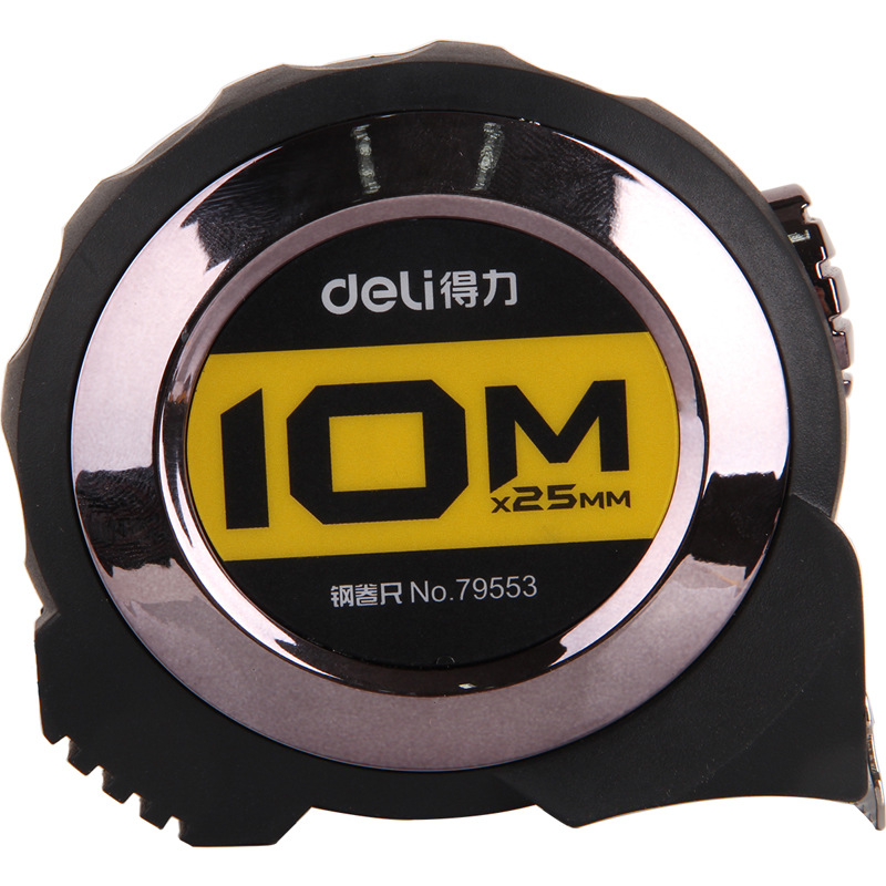 Deli 10 M Steel Tap Drop-resistant Steel Tap Ruler High Precision Measuring Tape Measure Measuring 79553
