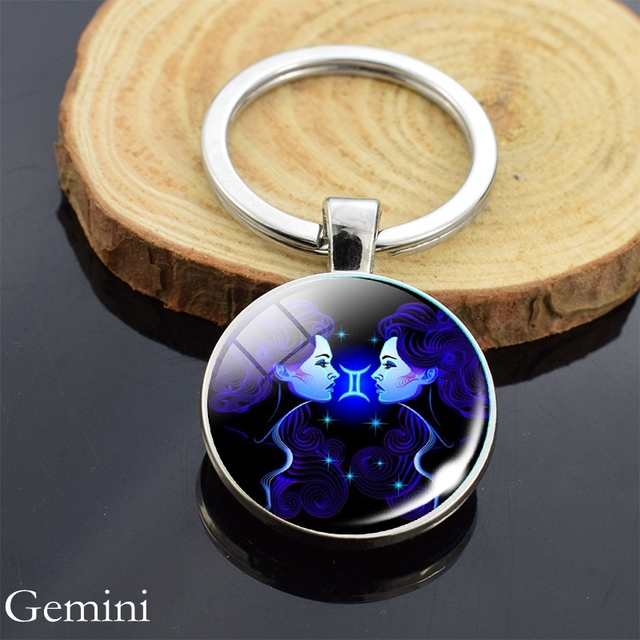 Crystal Ball Hand Painted Wooden Keyring Key Chain