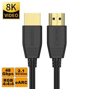 Image 1 - Fibre optique HDMI 8K 2.1 câble 48G 120HZ avec Audio vidéo HDMI cordon ultra hd HDR 4:4:4 perte amplificateur pour PS4 HDTV projecteur