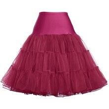 """GK красочная Женская юбка в стиле """"Ретро"""" без рукавов, Свинг рокабилли, винтажная кринолиновая пышная Нижняя юбка, юбка из вуали в стиле ампир"""