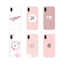For Samsung Galaxy S2 S3 S4 S5 Mini S6 S7 Edge S8 S9 S10E Lite Plus Love Travel world Pink paper plane aircraft TPU Shell Covers(China)