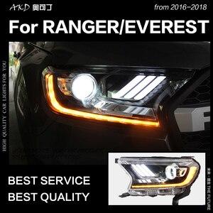 Image 2 - AKD רכב סטיילינג לפורד האוורסט ריינג ר פנסי 2016 2020 תור דינמי אות LED פנס DRL Hid Bi קסנון אביזרי רכב