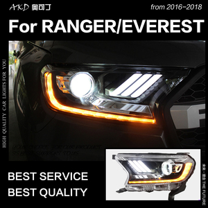 Image 2 - AKD Car Styling for Ford Everest Ranger Headlights 2016 2020 Dynamic Turn Signal LED Headlight DRL Hid Bi Xenon Auto Accessories