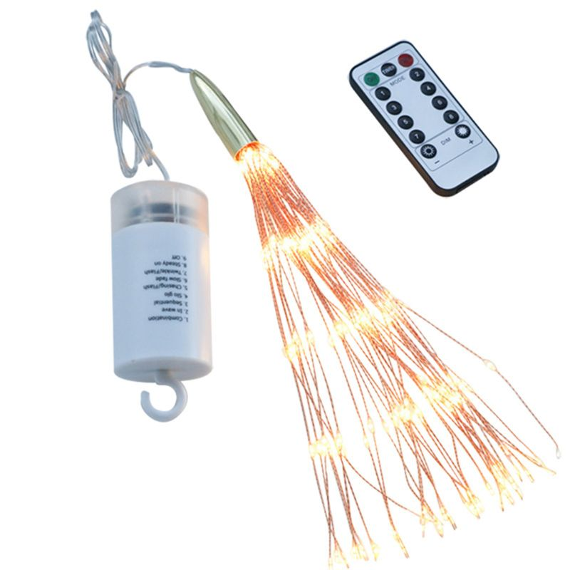 Beautiful Lighting Remote Control 8 Modes 200 LEDs Firework Light Foldable Decorative String Lamp