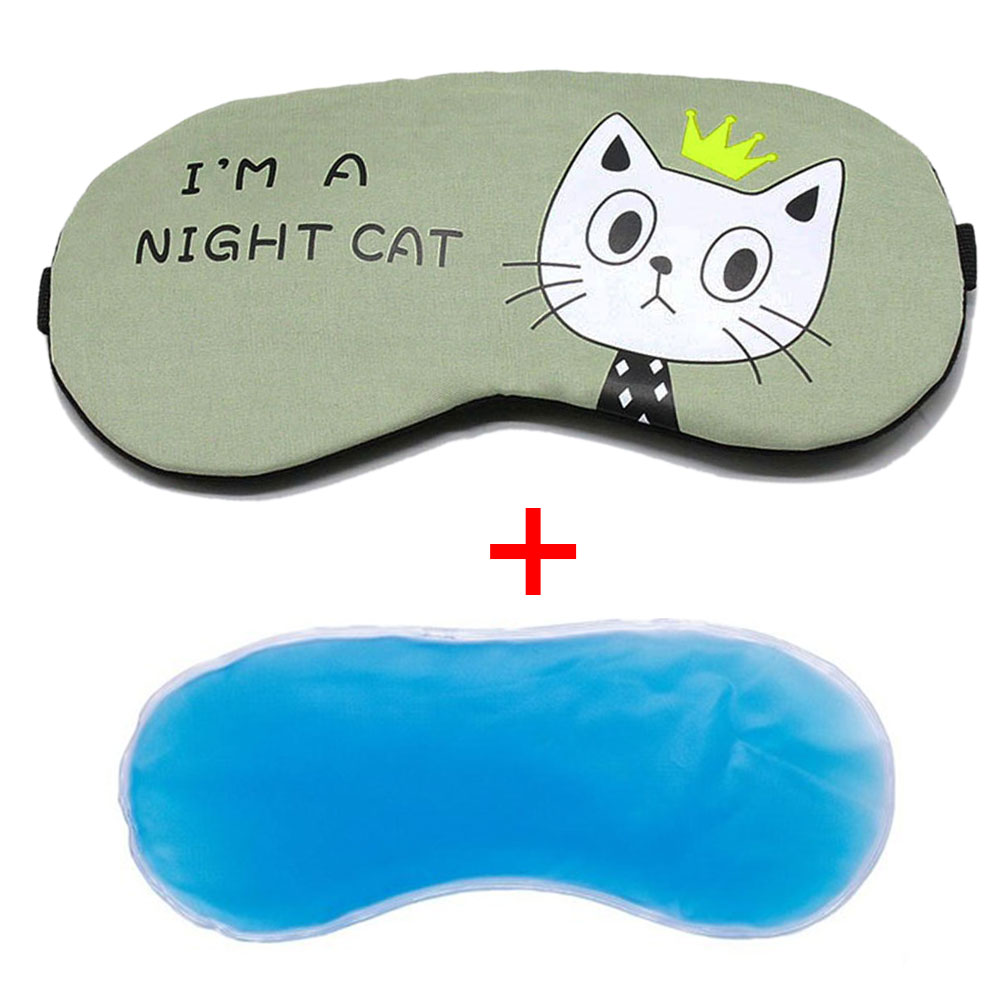 Travel Gifts Shade Eyepatch Office Home Cartoon Blindfolds Ice Gel Comfort Cover Cold Relaxing School Eye Mask Sleeping Aid