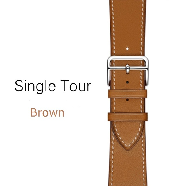 High Quality Genuine Leather Single Tour Bands for Apple Watch Series 5, iwatch 3 Band Replacement  Strap for Apple Watch 4 44mm   Fotoflaco.net
