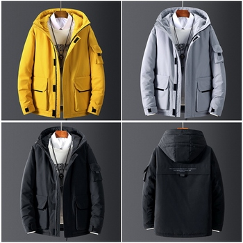 2019 New High Quality men's Winter Jacket Thick Snow Parka Overcoat White Duck Down Jacket Men Wind Breaker Brand Tace Down Coat