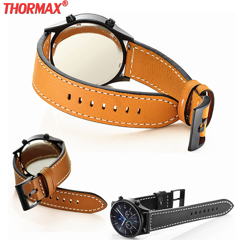 22MM Genuine Stitching Leather Watchband For Samsung Gear S3 Zenwatch 2/1 Huami AMAZFIT <font><b>Moto</b></font> <font><b>360</b></font> 2nd Ticwatch 1 Watch <font><b>band</b></font> Strap image