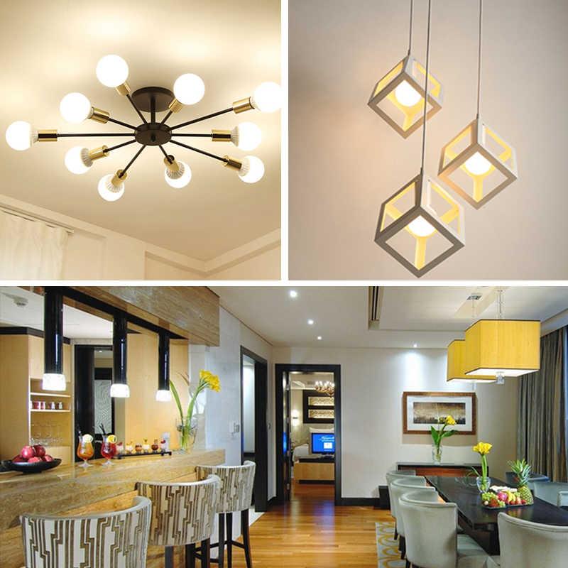 Lámpara LED E27 E14, 6 unidades por lote, Bombilla de 3W, 6W, 9W, 12W, 15W, 18W, 20W, 220V, blanco frío, blanco cálido, iluminación de interiores para sala de estar