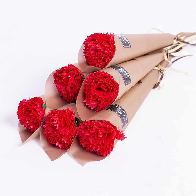 1pc עלה מלאכותי פרח סבון פרח זר צבעים רוז חתונת פרח קישוט רעיונות מזויף עלה פרח