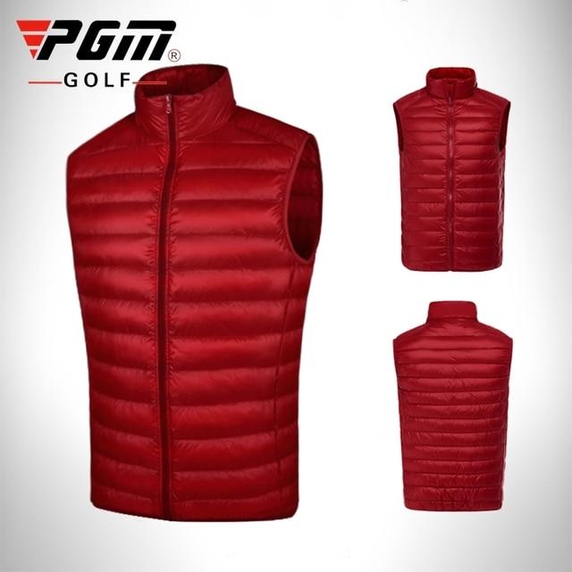 Pgm Golf Kleidung Männer Unten Jacke Mantel Doppel Unten Weste Männlichen Ärmelloses Golf Warme Winddicht Weste Herbst Winter Bekleidung D0512