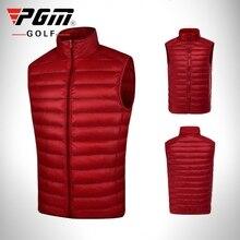 Pgm جولف ملابس الرجال أسفل سترة معطف مزدوج أسفل سترة الذكور أكمام جولف الدافئة يندبروف صدرية الخريف الشتاء الملابس D0512