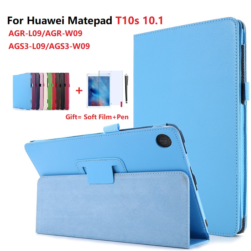 Чехол для планшета Huawei MatePad T10 9,7 2020 AGR-L09/AGR-W09 подставка кожаный чехол-портмоне с откидной крышкой для MatePad T10S 10,1 AGS3-L09/AGS3-W09