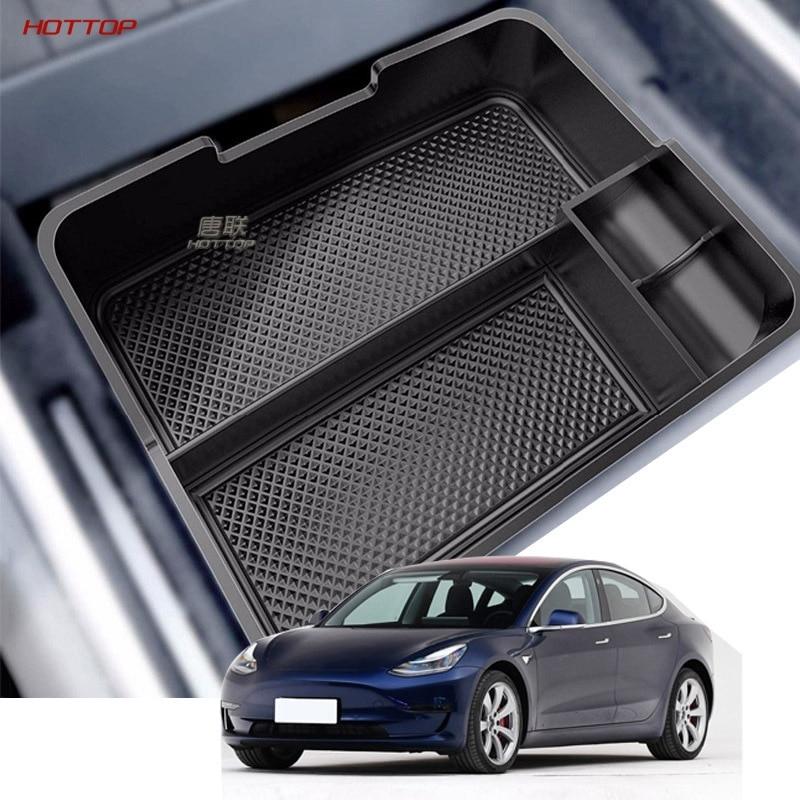 Para Tesla modelo 3 BlueStar 2017 2018 2019 accesorios Almacenamiento de reposabrazos central para coche caja contenedor para automóvil guante organizador caso