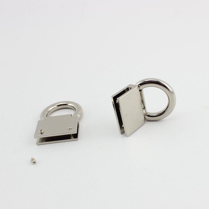 Image 4 - 50 個 10 個 45*28 ミリメートル高品質金具ハードウェアハンドバッグ/バッグのタッセルキャップクラスプスクエアバックルスクリューコネクタバッグハンガーbag hangerhardware handbagsquare buckle -