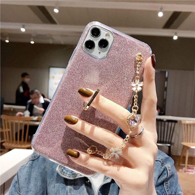 Fashion Ultra thin <font><b>silicone</b></font> With ring diamond Luxury Bracelet Lanyard Phone <font><b>Case</b></font> For <font><b>Oneplus</b></font> 6 6T 7 7T 5 <font><b>5T</b></font> 3 Pro TPU <font><b>Case</b></font> Cover image