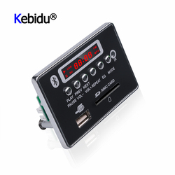 Leitor de usb do carro do bluetooth do leitor de usb fm aux para o controle remoto integrado do carro módulo mp3 5 v 12 v placa de decodificador mp3 mãos-livres