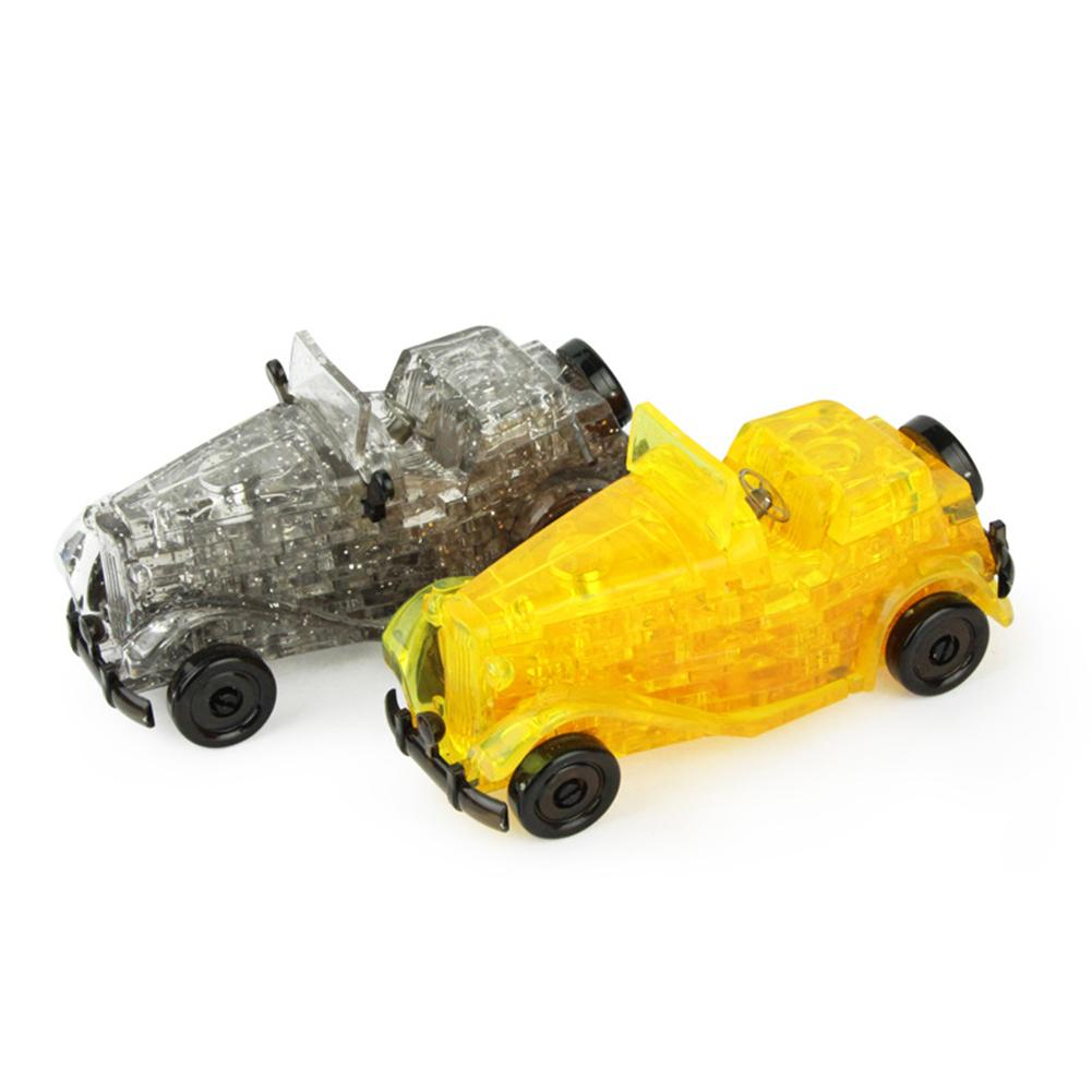 3D Vintage Car Vehicle Crystal Puzzles DIY Assembly Model Educational Kids Toy For Kids Classic & Antique Cars Models New