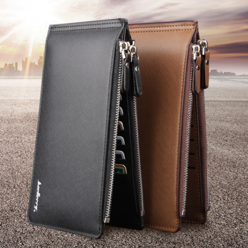 Fashion Leather Men Wallet Large Capacity 16 Slot Card Holder Famous Brand Bi-Fold Wallet Men's Cash Coin Purse Free Shipping
