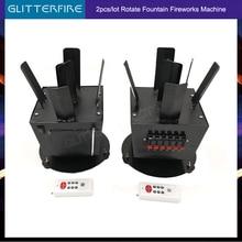 2pcs/lot Wireless remote control cold fireworks rotate wedding machine