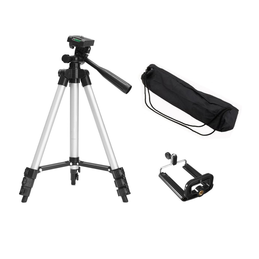 Portable Flexible Mobile Phone Holder Telescopic Camera Tripod With Stand Holder Mount With Carry Bag For Smart Phone Camcorder
