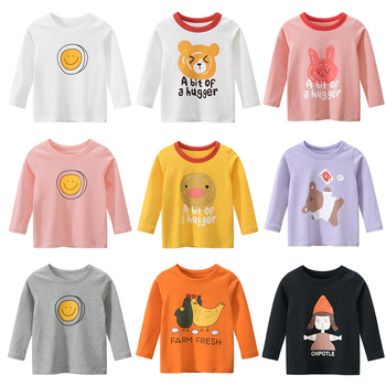Kids Girls Boys T Shirt Baby Cotton Tops Toddler Tees Clothes Children Clothing Cartoon T-shirts Long  Sleeve Toddler New 2020 ciciibear children boys shirts spring 2020 cotton kids baby shirts children clothing shirt long sleeve