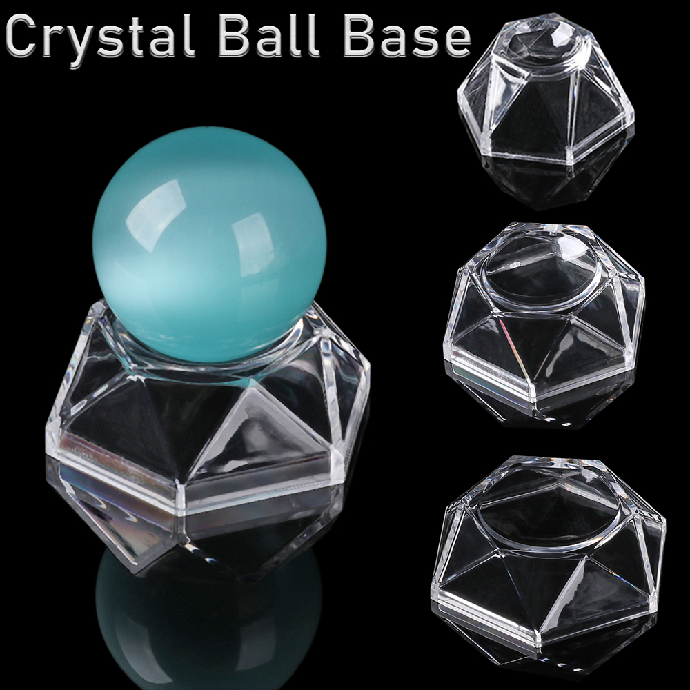 1Pc 2020 Crystal Ball Stand Display Holder Ball Base Quartz Sphere Support Home Decoration Desktop Ornament Transparent Pedestal